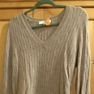 Wool LOFT v-neck sweater